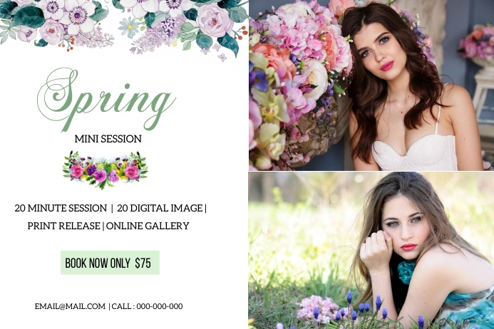 Spring Photography Mini Session Label template