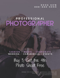Photography Photographer Photo Shoot Flyer Template