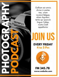 photography podcast design template Folheto (US Letter)