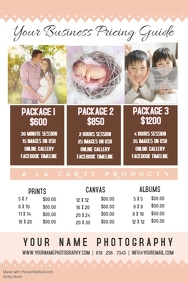 Photography Pricing Guide Poster Flyer