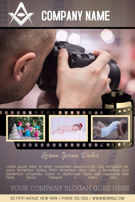 photography service business company flyer template