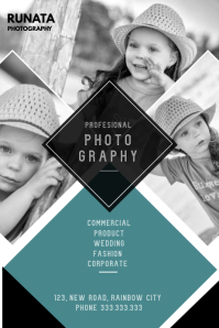 Photography service flyer Poster template