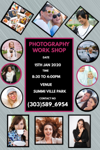 Photography Service Flyer Banner 4' × 6' template