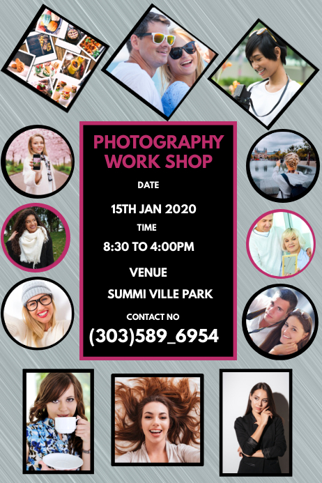 Photography Service Flyer แบนเนอร์ 4' × 6' template