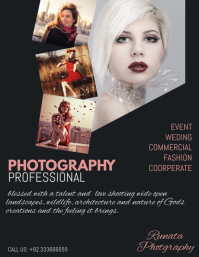 Photography Service Flyer 传单(美国信函) template