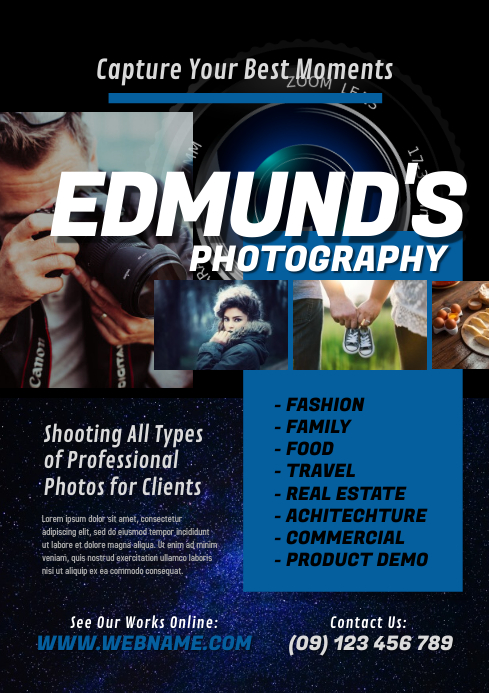 Photography Services Flyer A4 template