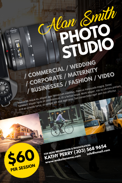 Photography Business Flyer Templates ~ Flyer Templates ... |Photography Business Flyer Ideas