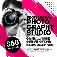 Photography Studio Instagram Post Wpis na Instagrama template