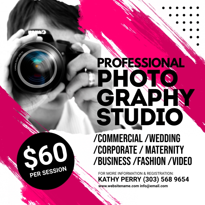 Photography Studio Instagram Post template