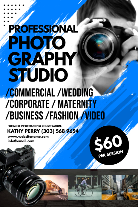 Photography Studio Poster Plakat template