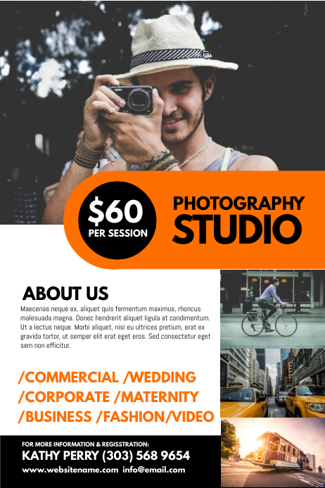 Photography Studio Poster Póster template