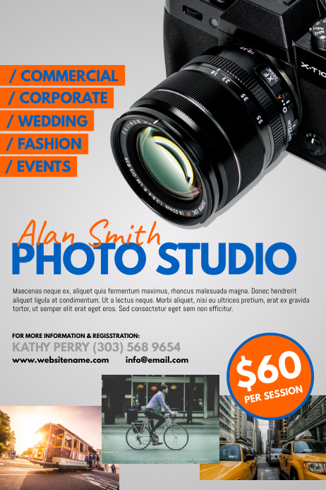 photography studio poster template