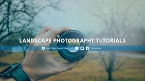 Photography Tutorial Youtube Channel Cover template