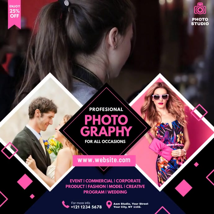 Photography Video ad Pos Instagram template