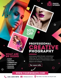 Photography Video Ad Volante (Carta US) template