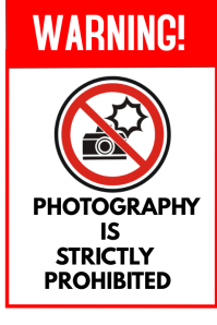 Photography warning Poster template