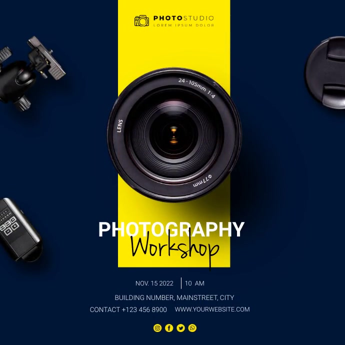 photography workshop Instagram Post template