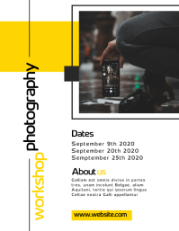 photography workshop flyer advertisement Pamflet (VSA Brief) template