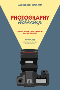 Photography Workshop Flyer Design Template Plakkaat