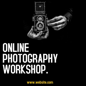 photography workshop instagram post advertise