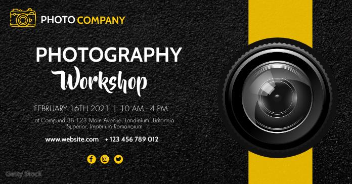 photography workshop modern advertisement des โฆษณา Facebook template
