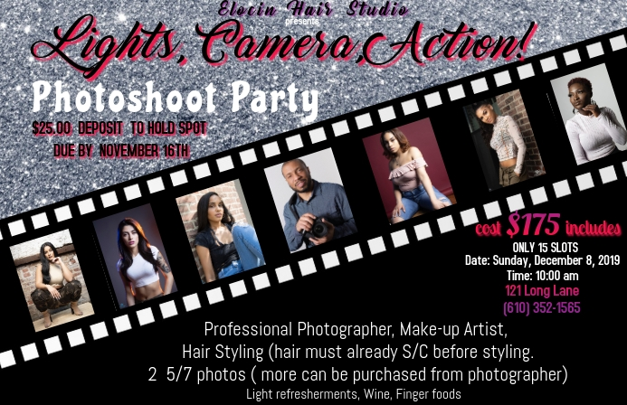 Photoshoot Party Tabloid template