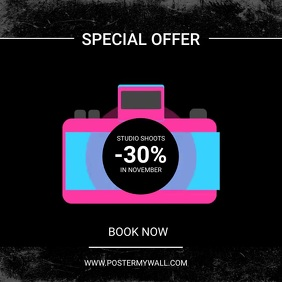 photoshoot special sale ad template Square (1:1)