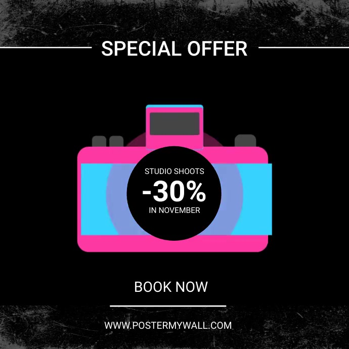photoshoot special sale ad template Persegi (1:1)