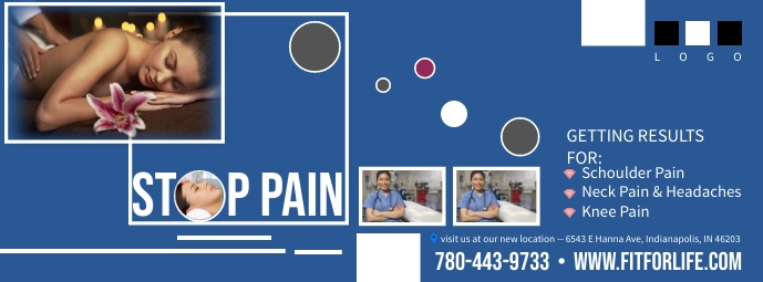Physical Therapy Facebook Cover photo Facebook-omslagfoto template