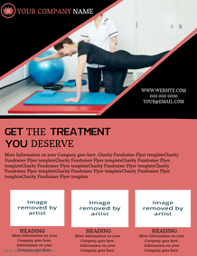 Physiotherapy Company Business Flyer template