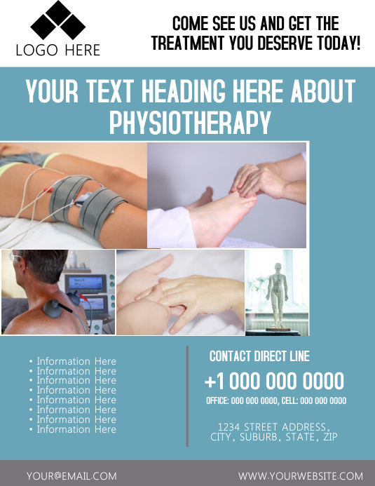 Physiotherapy Flyer Template
