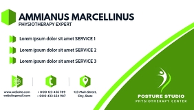 physiotherapy medical business card template