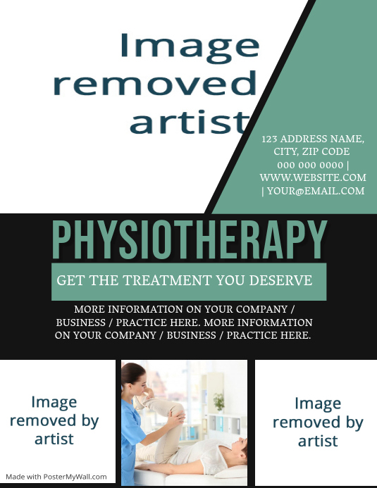 Physiotherapy Physiotherapist Flyer Template