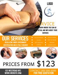 PHYSIOTHERAPY SERVICES FLYER TEMPLATE
