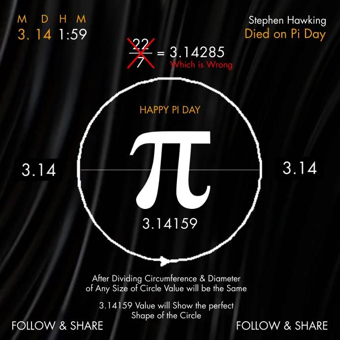Pi Day Explain 2021 Template Instagram Post