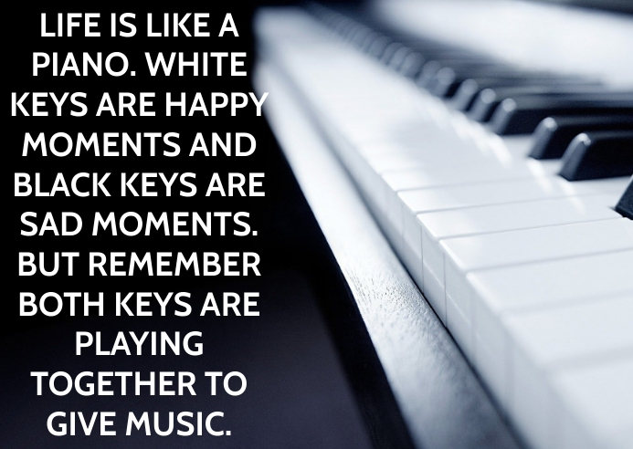 PIANO AND MUSIC QUOTE TEMPLATE A6