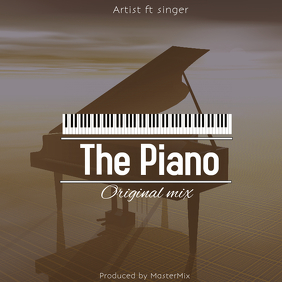 Piano artwork Logo template