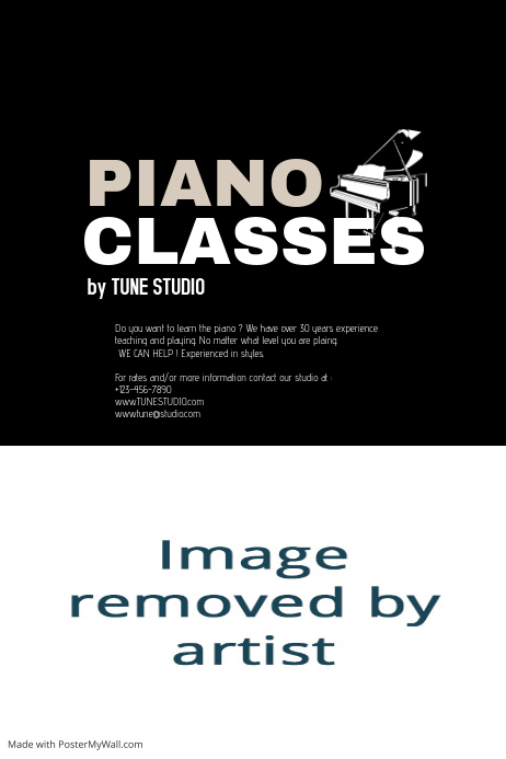 Customizable Design Templates For Piano Concert