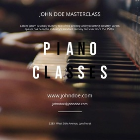 Piano Classes Motion Poster
