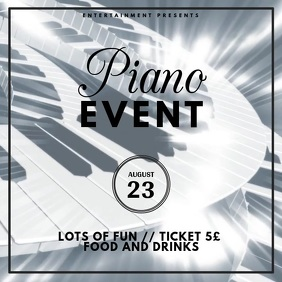 Piano Concert Event Advertising Video template Instagram