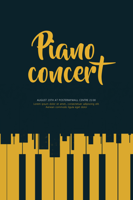 Piano Concert Flyer Template  Postermywall