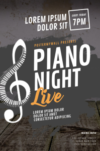 Piano Concert Flyer Template