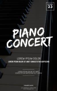 Piano Concert Flyer Template Kindle-Cover
