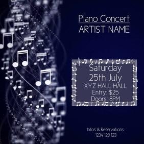 Piano Concert Instagram Video Advert