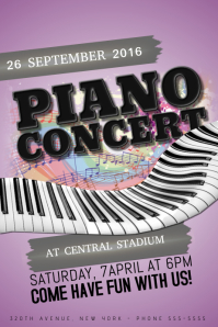 Piano Concert kids fun children event Poster Template