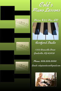 Piano Cartel de 4 × 6 pulg. template