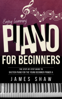 Piano for beginners Kindle music book cover template