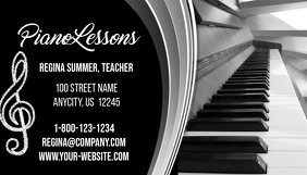 Customizable design templates for piano lessons business card piano lesson business card colourmoves