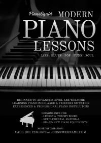 Piano Lesson Flyer Template