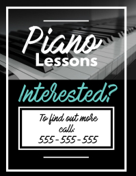 piano lesson template